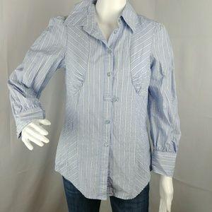 Odille Anthropologie Women's Shirt Button Down Siz